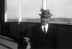 Aboard the S.S. Majestic en route to Europe, 1924