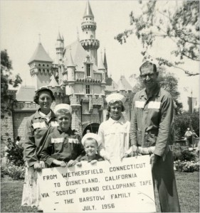 The Barstow family in Disneyland