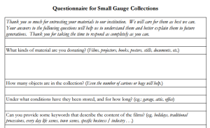CollectionQuestionnaire